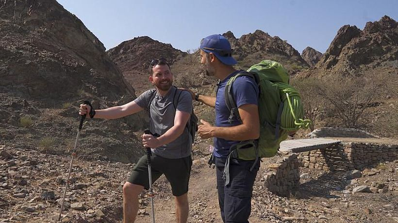 Exploring steep ridges with breathtaking views in Hatta