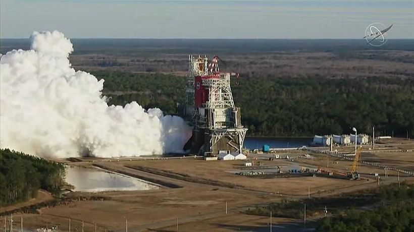 NASA 'megarocket' test aborted after system computers shut down engines