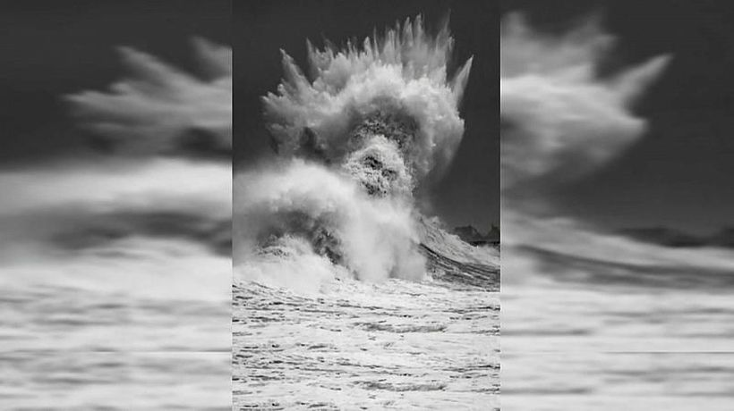 Is this just a wave or the face of Poseidon, God of the Sea?