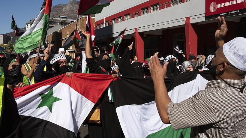 Protest in Cape Town in solidarity with Palestinians in Gaza