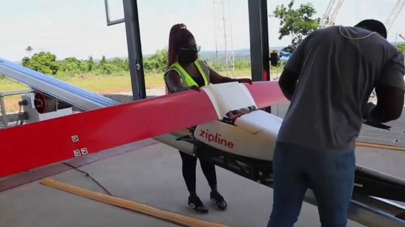 Cutting-edge company flies drones to deliver vaccines in Ghana