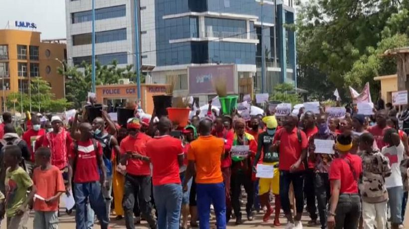 Malian supporters of M5 opposition movement rally on first anniversary