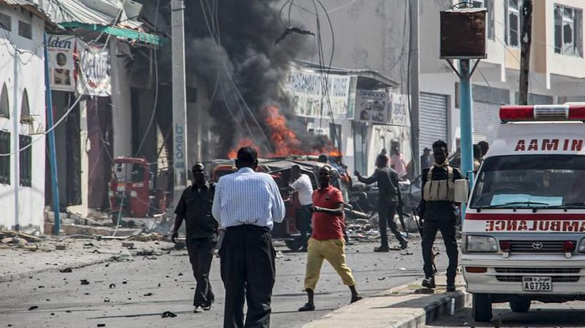 At least 15 killed in suicide bombing at Somalia army camp