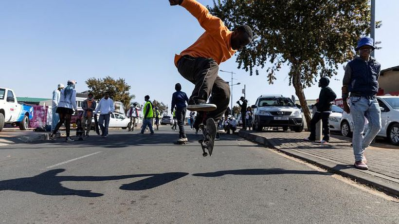 Skateboarders celebrate Youth Day's 45th anniversary in Soweto