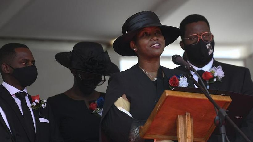 Haiti: Jovenel Moise's widow warns 'blood will not cease' at funeral