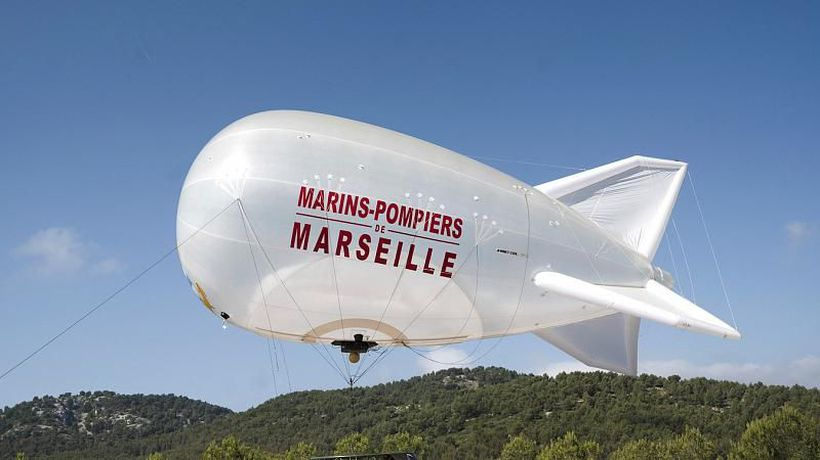 Firefighters in France are using a balloon to spot forest fires as soon as they start