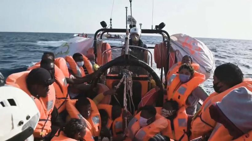 Rescue vessels reach capacity with hundreds of migrants onboard in the mediterreanean