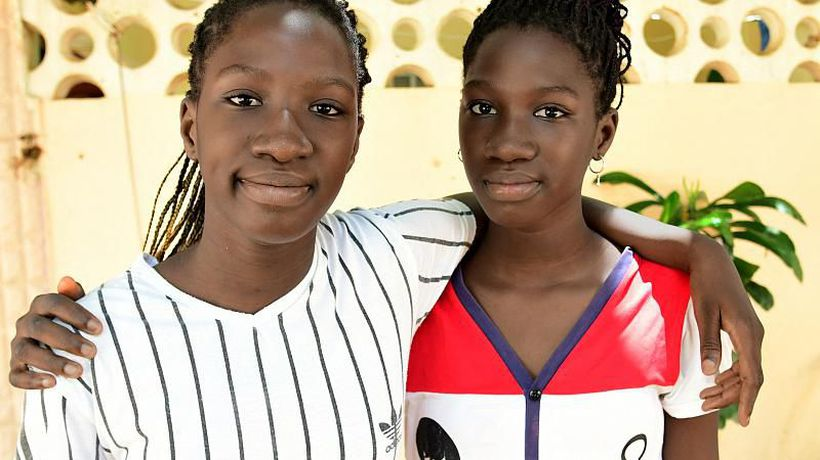 13 year old Senegalese Twin girls graduate high school with impressive scores