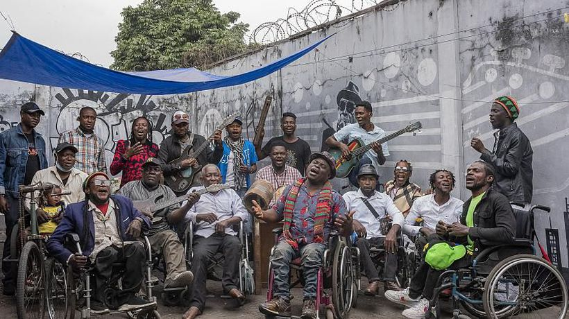 Disabled DR Congo street musicians push for copyright recognition