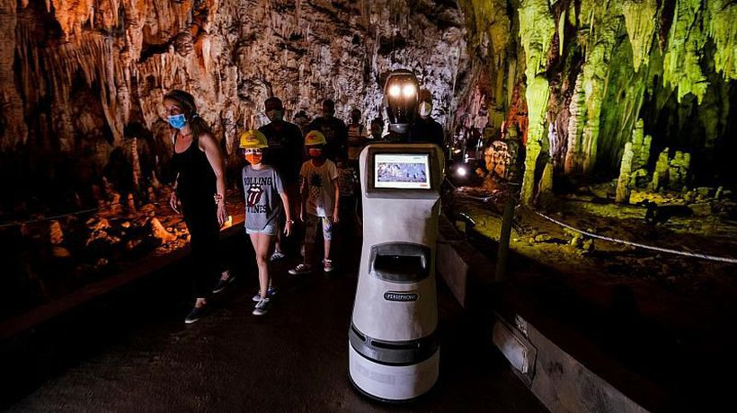Meet Persephone, the robot tour guide at Greece's Alistrati Cave who can speak 33 languages