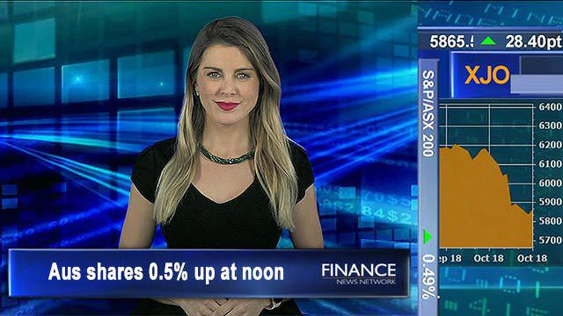 Clawing back: Aus shares 0.5% higher at noon