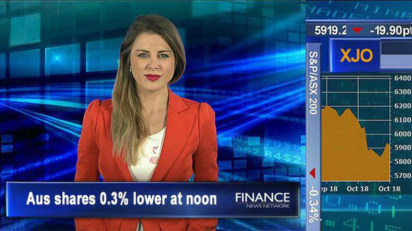 Insurance & credit move Thursday: Aus shares 0.3% lower at noon