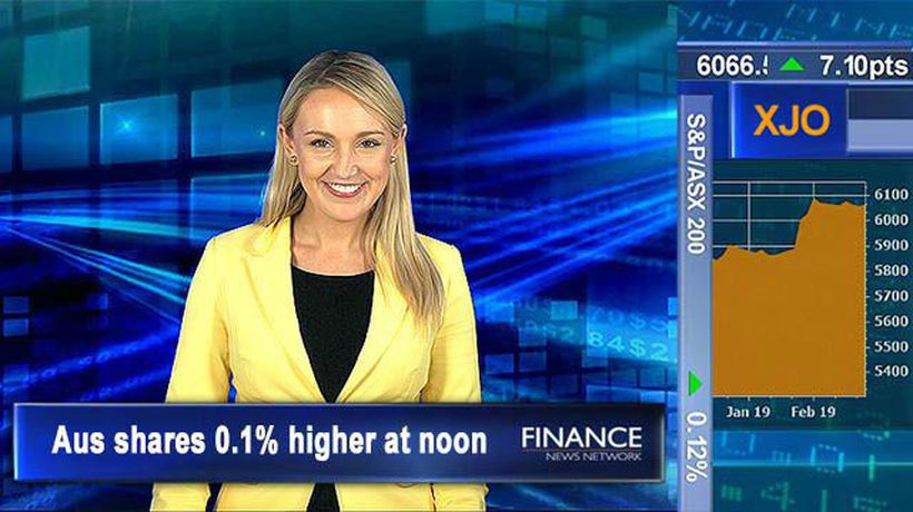 Treasury Wine Estates downgraded: Aus shares 0.1% higher at noon