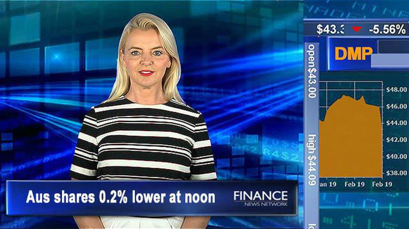 Wage growth below expectations: ASX 0.2% tracking at noon
