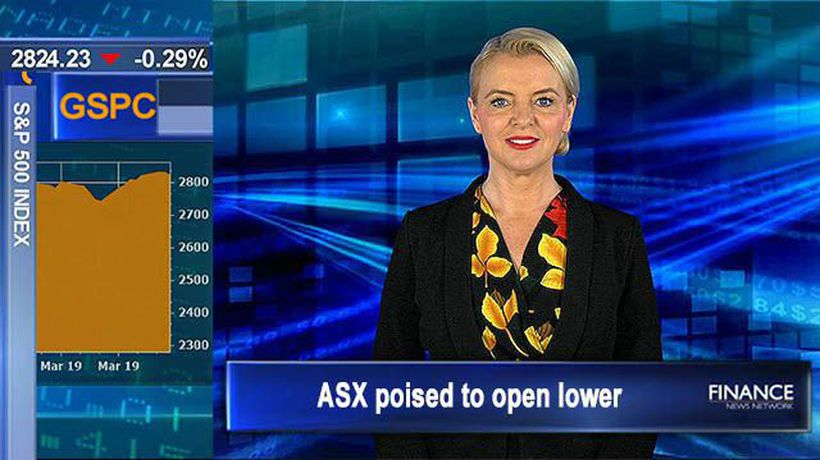 Fed tip weaker US economic growth: ASX poised to open lower