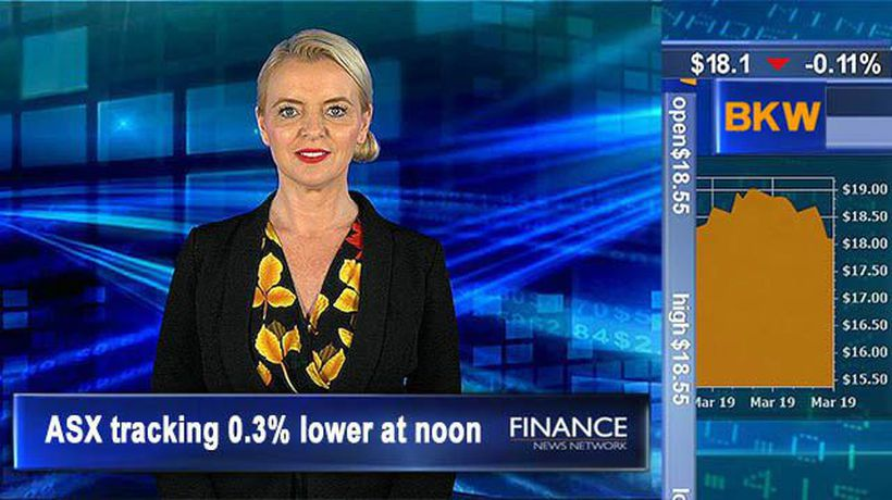 Unemployment rate falls to 4.9% in Feb: ASX tracking 0.3% lower at noon
