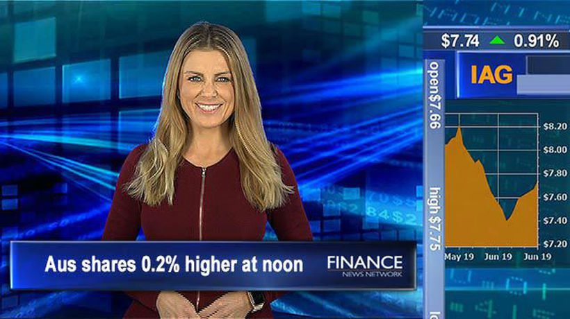 Another fresh record for the ASX, iron ore lifts 5%: Aus shares 0.2% higher at midday