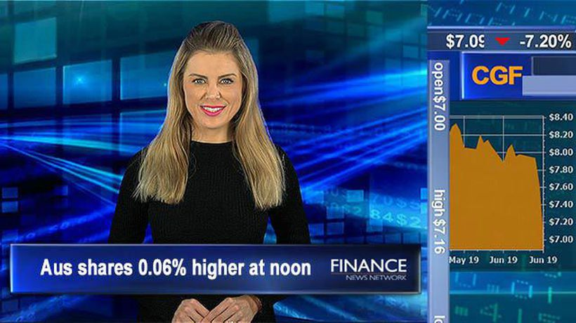 Aus participation rate hits all time high: Aus shares steady at noon, holding fresh highs