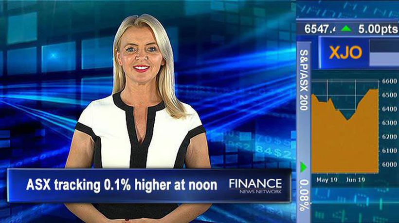 Fortescue Metals Group on the up: ASX tracking 0.1% higher at noon