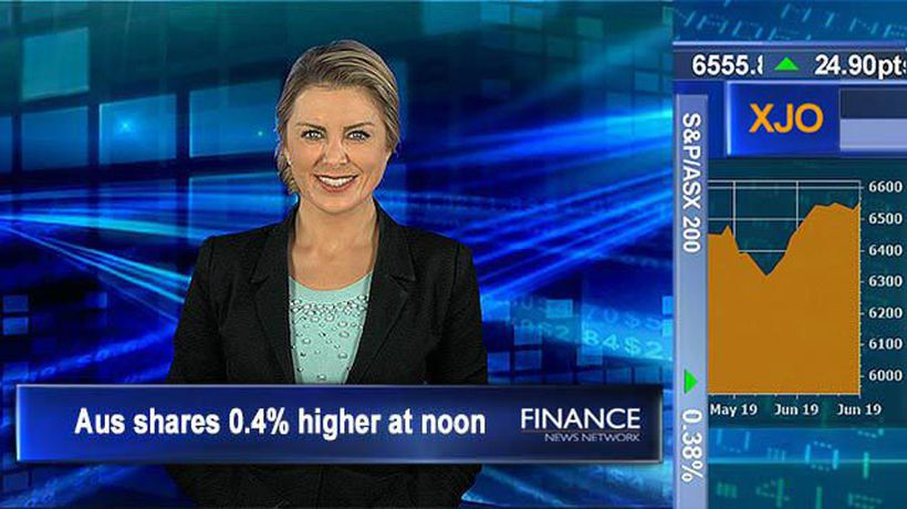 Property prices fall more than expected: Aus shares bounce back, 0.4% higher at noon
