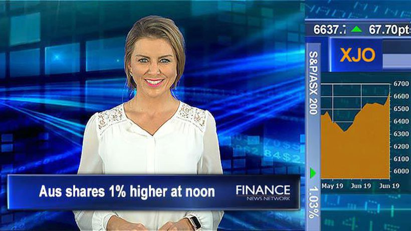 Aus shares hit another new fresh high 6,644pts: ASX 1% up at noon