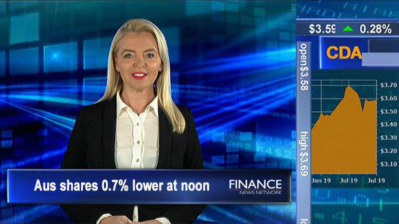 AMP shares slump over 15%: ASX tracking 0.7% lower at noon