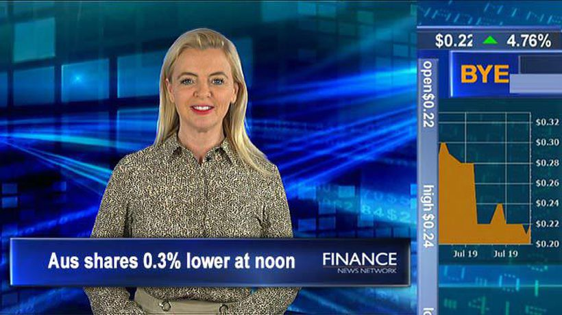 Jobless rate remains steady: ASX tracking 0.3% lower at noon