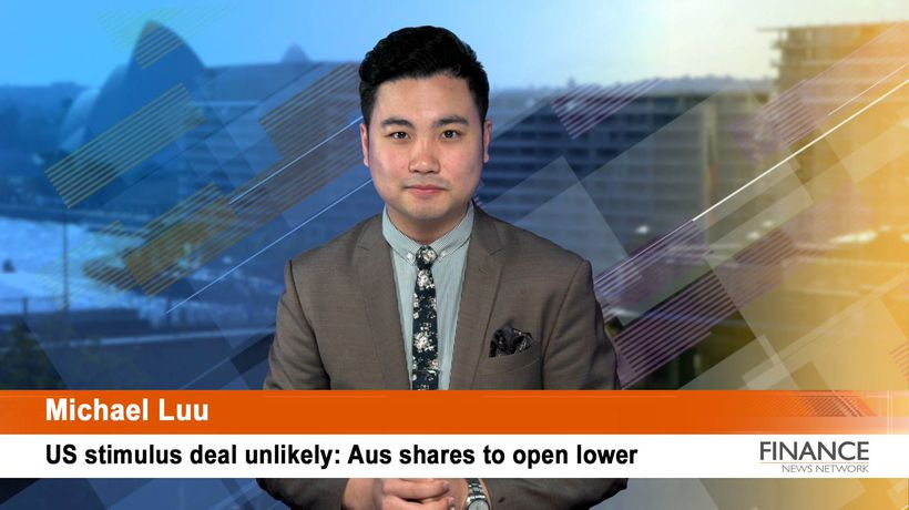 US stimulus deal unlikely: Aus shares to open lower