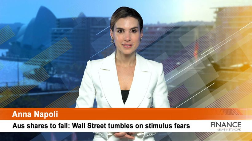Aus shares to fall: Wall Street tumbles on stimulus fears