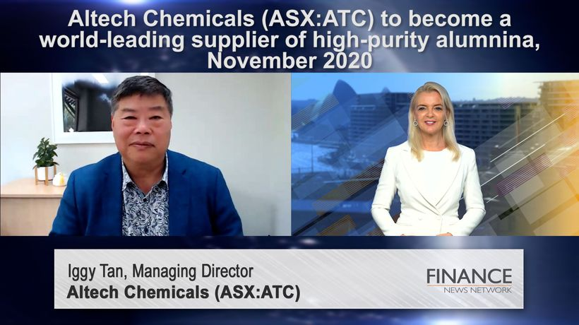 Altech Chemicals (ASX:ATC) aiming to become one of world's leading suppliers of high purity alumina