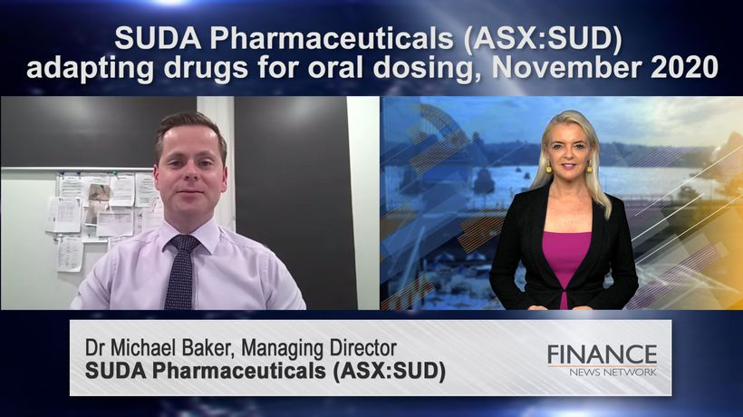 SUDA Pharmaceuticals (ASX:SUD) adapting drugs for oral dosing