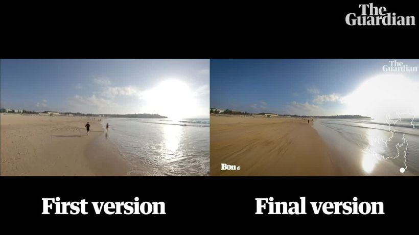A side-by-side comparison of the Bondi-to-Manly hyperlapse