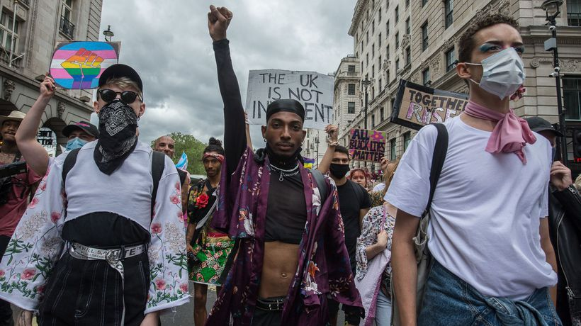 Thousands join Black Trans Lives Matter protest in London
