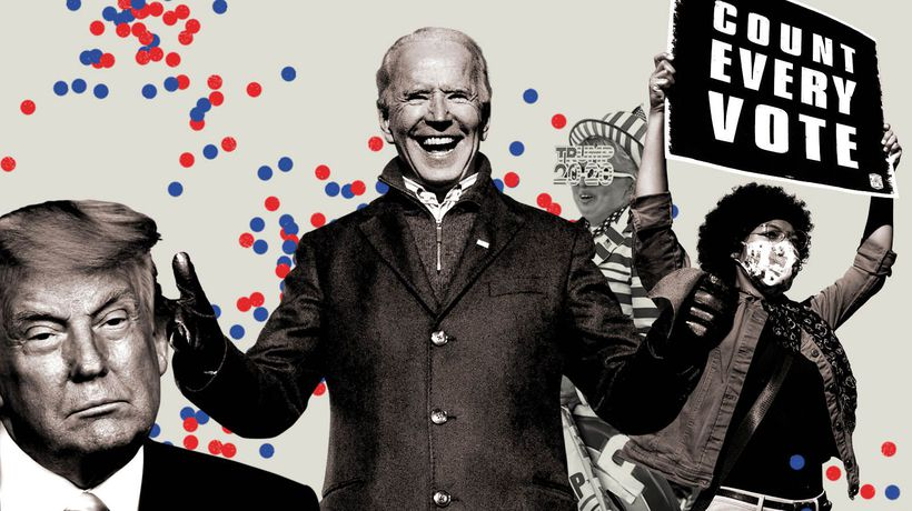The path to Joe Biden's victory: five days in five minutes