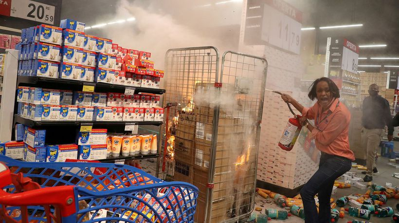 Violence erupts in Brazil after a black man is beaten to death outside supermarket