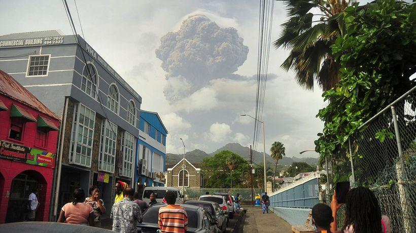 St Vincent rocked by explosive eruptions of La Soufrière volcano