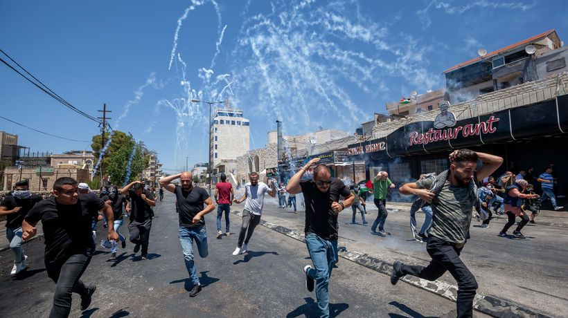 Israeli police use cannon and teargas during clashes in Jerusalem and West Bank