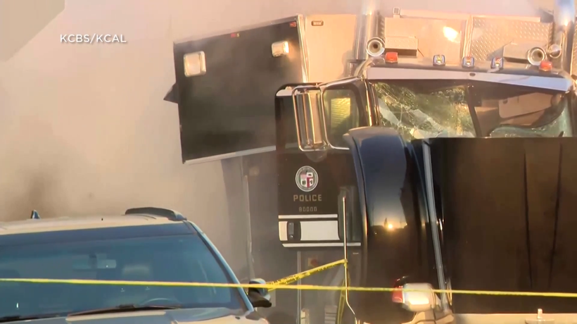 Los Angeles police injure 17 and flip cars after illegal firework detonation fails