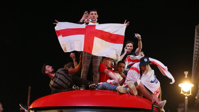 'It's coming home': England fans go wild after team secures Euro 2020 final berth
