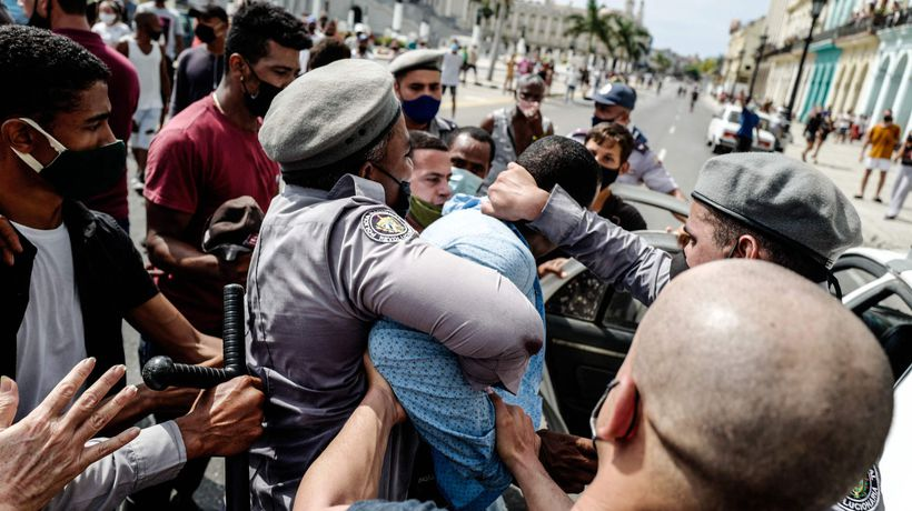 Thousands join rare anti-government protests in Cuba