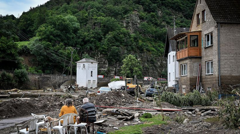 'It went so fast': villagers describe destruction as flooding hits western Germany