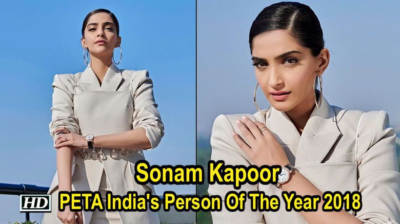 Sonam Kapoor honoured with PETA India's Person Of The Year 2018