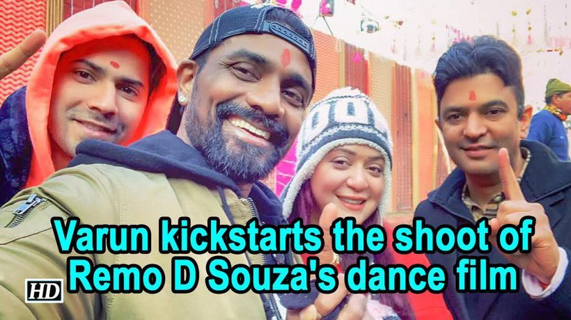 Varun kickstarts the shoot of Remo D Souza's dance film