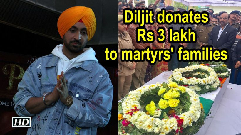 Diljit Dosanjh donates Rs 300000 to martyrs families