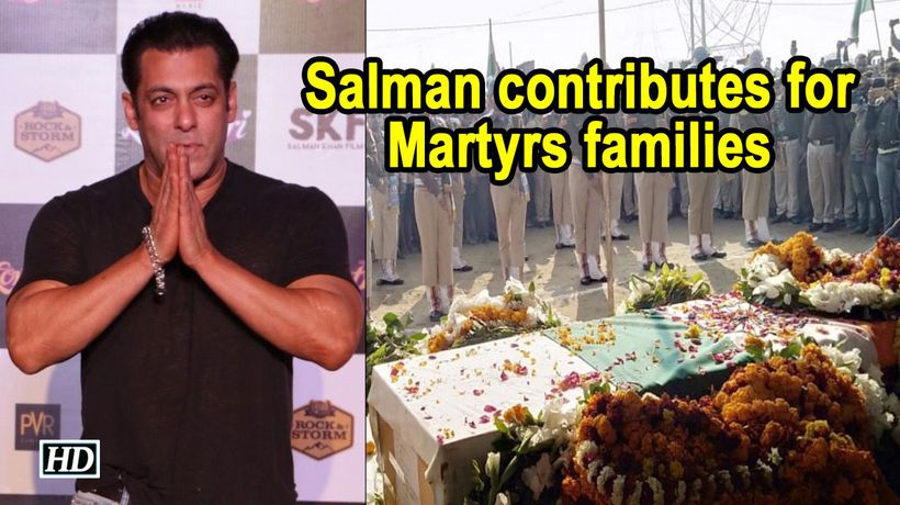 For Martyrs families Salman Khan contributes to BharatKeVeer fund
