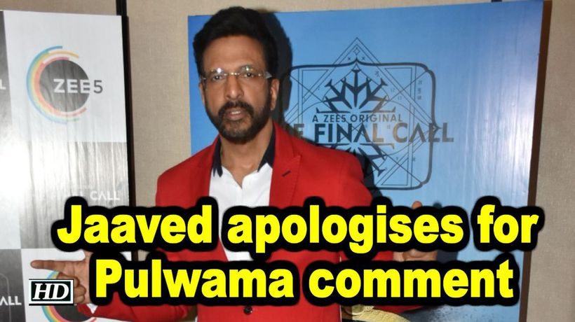 Jaaved Jaaferi apologises for Pulwama comment