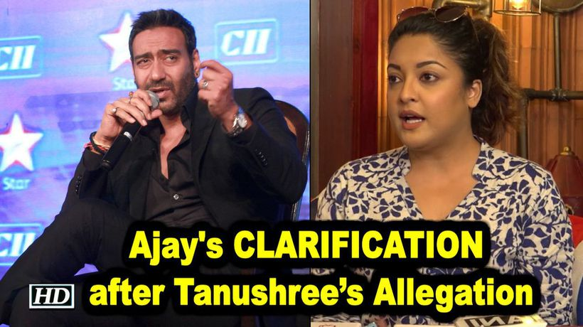 Ajay Devgn issues CLARIFICATION after Tanushrees Allegation