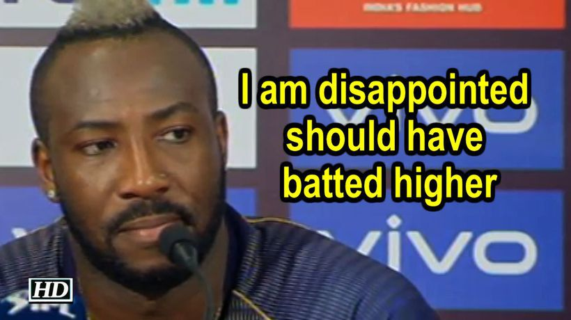 IPL 2019 I am disappointed should have batted higher Russell