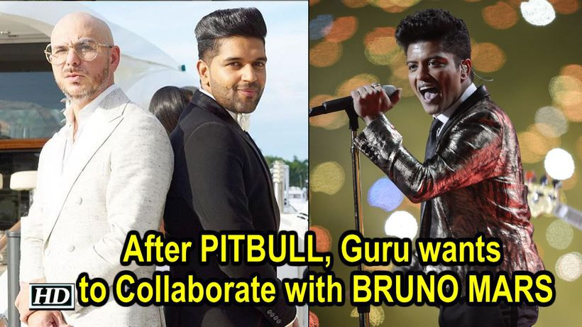 After PITBULL Guru wants to Collaborate with BRUNO MARS