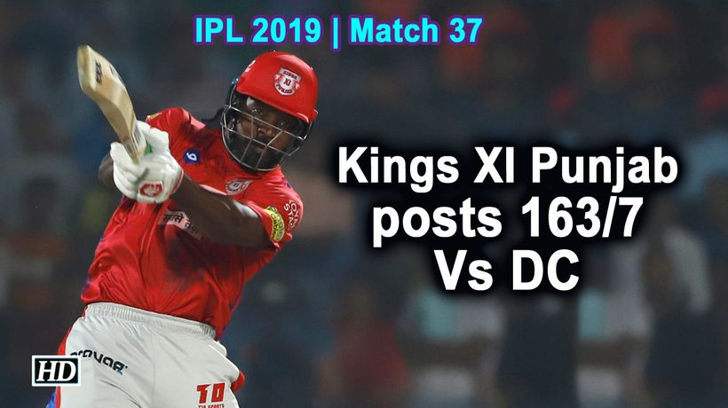 IPL 2019 | Match 37 | Kings XI Punjab posts 163/7 Vs DC